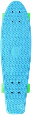 Скейтборд Y-SCOO Fishskateboard 22 RT винил 56,6х15 с сумкой BLUE/green 401-B скейтборд y scoo skateboard fishbone с ручкой 22 rt винил 56 6х15 с сумкой blue black 405 b