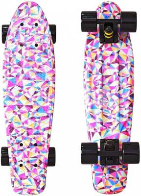 "Скейтборд Y-SCOO Fishskateboard Print 22"" RT винил 56,6х15 с сумкой Rhombus 401G-R скейтборд y scoo fishskateboard print 22"