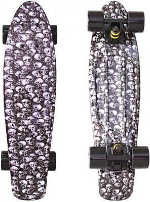 Скейтборд Y-SCOO Fishskateboard Print 22 RT винил 56,6х15 с сумкой Scull 401G-Sc