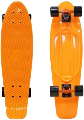 "Скейтборд Y-SCOO Fishskateboard Print 22"" RT винил 56,6х15 с сумкой ORANGE/black 401-O"