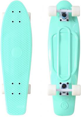 "Скейтборд Y-SCOO Big Fishskateboard Print 27"" RT винил 68,6х19 с сумкой AQUA/white 401-A"
