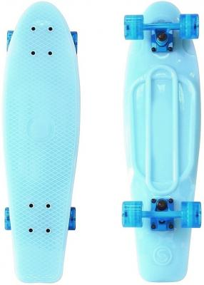 "Скейтборд Y-SCOO Big Fishskateboard GLOW 27"" RT винил 68,6х19 с сумкой BLUE/blue 402E-B"