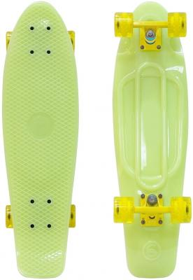 "Скейтборд Y-SCOO Big Fishskateboard GLOW 27"" RT винил 68,6х19 с сумкой YELLOW/yellow 402E-Y"