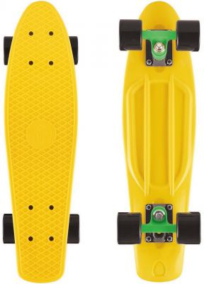 Скейтборд Y-SCOO Big Fishskateboard 27 RT винил 68,6х19 с сумкой GREEN/black 402-G rt 402 pr скейтборд big fishskateboard 27 винил 68 6х19 с сумкой purple green