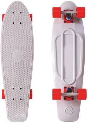Купить Скейтборд Y-SCOO Big Fishskateboard 27 RT винил 68, 6х19 с сумкой GREY/red 402-Gr, красный, серый, Скейтборды