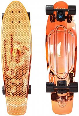 "Скейтборд Y-SCOO Big Fishskateboard metallic 27"" RT винил 68,6х19 с сумкой ORANGE/black 402H-O"