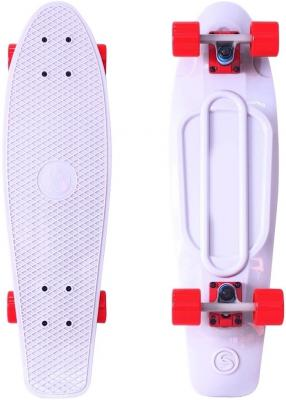 "Скейтборд Y-SCOO Big Fishskateboard 27"" RT винил 68,6х19 с сумкой WHITE/red 402-W"