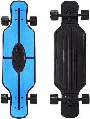 "Скейтборд Y-SCOO Longboard Shark TIR 31"" RT пластик 79х22 с сумкой BLUE/black 408-B"