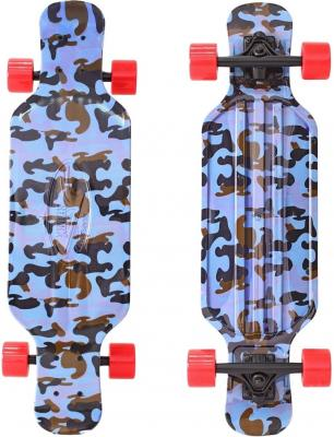 Купить Скейтборд Y-SCOO Longboard Shark TIR 31 RT пластик 79х22 с сумкой Blue Army BLUE/red 408-Ba, черный, синий, Скейтборды