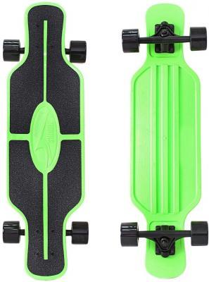 Купить Скейтборд Y-SCOO Longboard Shark TIR 31 RT пластик 79х22 с сумкой GREEN/black 408-G, зеленый, черный, Скейтборды