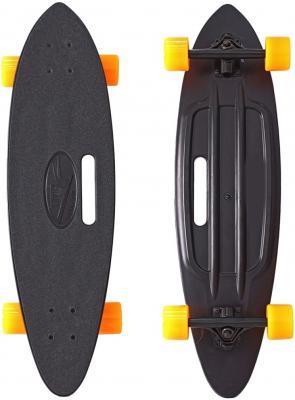 Скейтборд Y-SCOO Longboard Shark с ручкой 31 пластик 79х22 с сумкой BLACK/orange 409-B