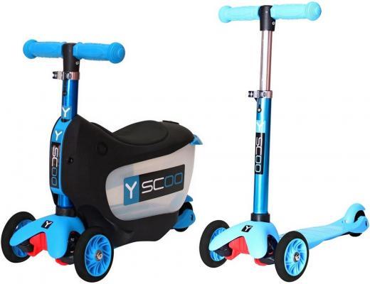 Самокат-каталка Y-SCOO Mini Jump&Go aqua 5/3 голубой самокат 3 х колесный y scoo 3 в 1 mini jump