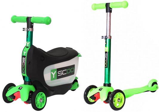 Самокат-каталка Y-SCOO Mini Jump&Go зеленый