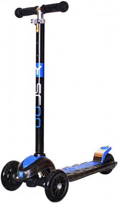 Самокат Y-SCOO MAXI Laser Show black/blue