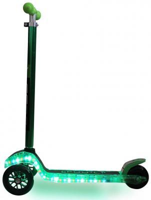 Самокат Y-SCOO MAXI Laser Show зеленый