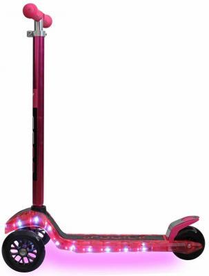 Самокат Y-SCOO MAXI Laser Show розовый