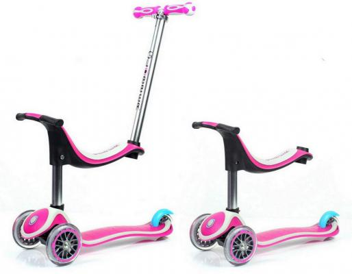 Самокат Y-SCOO RT GLOBBER My Free NEW Technology Seat розовый