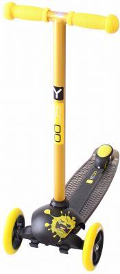 Самокат Y-SCOO RT TRIO DIAMOND 120 Monsters желтый 1 положение высоты ручки тюбинг rt 7 monsters до 120 кг разноцветный пвх
