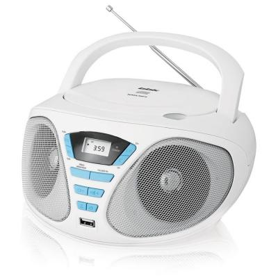 Магнитола BBK BX180U белый голубой аудиомагнитола bbk bx180u черный желтый bx180u черный желтый