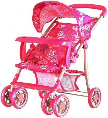 Коляска для кукол RT Цветы гибискуса розовый 9304-BWT
