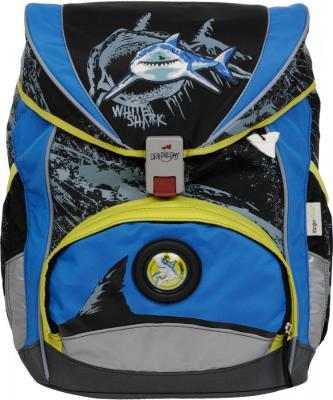 Ранец с наполнением DERDIEDAS ERGOFLEX XL Белая акула 25.5 л синий черный