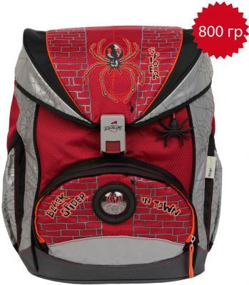 Ранец с наполнением DERDIEDAS Exclusiv SuperFlash ErgoFlex Паутина 20.5 л красный серый