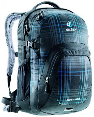 Городской рюкзак с отделением для ноутбука Deuter Graduate 28 л 80232-7309 серо-синяя клетка