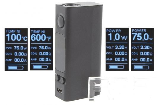 Батарейный мод Joyetech eVic VTwo Mini Simple 75 W серый