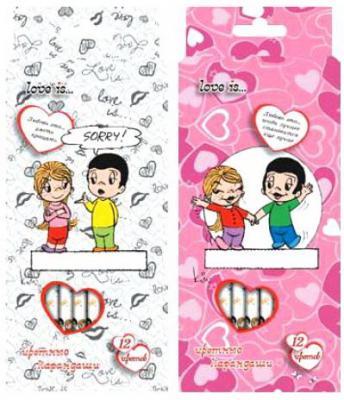 Набор цветных карандашей Action! Love is в ассортименте LI-ACP205-12