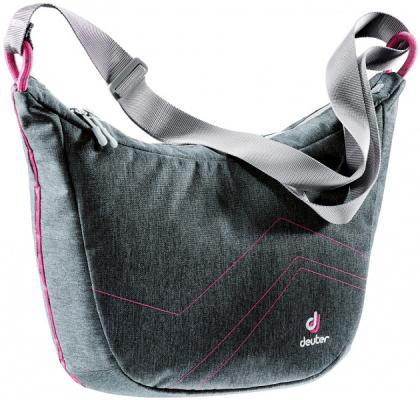 Сумка с отделением для ноутбука Deuter Pannier sling 12 л серый розовый 85124-7511 городской рюкзак с отделением для ноутбука deuter graduate 28 л синий 80232 3608