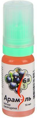 Жидкость для заправки электронных сигарет Арамэль Черная смородина 6 mg 10 мл