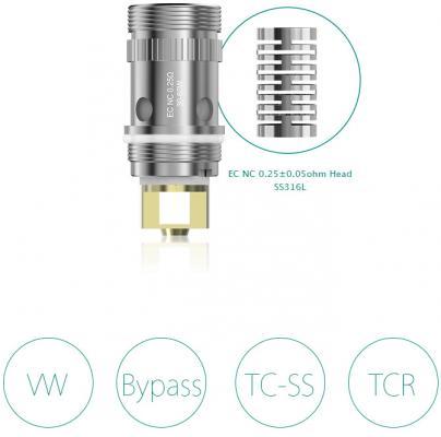 Испаритель Eleaf NC Coil 0.25 Ом батарейный мод eleaf ipower 5000 mah 80 w стальной