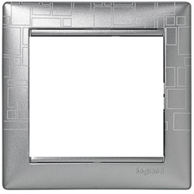 Рамка Legrand Valena 1 пост алюминий 770341 рамка legrand valena life 1 пост алюминий 754241