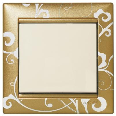 Рамка Legrand Valena 1 пост золотистый 770020 рамка legrand valena life 1 пост алюминий 754241
