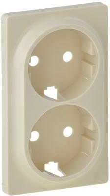 Лицевая панель Legrand Valena Life для двойной силовой розетки 2х2К+З слоновая кость 754951