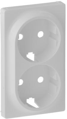 Лицевая панель Legrand Valena Life для двойной силовой розетки 2х2К+З белый 754950
