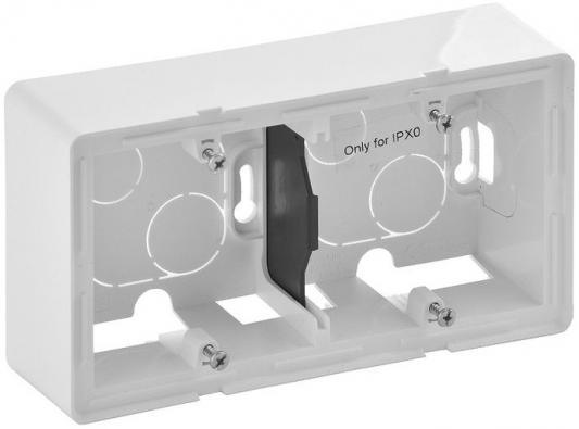Коробка Legrand Valena Life для накладного монтажа 2-постовая белый 754192 светорегулятор legrand valena life поворотный без нейтрали белый 752460