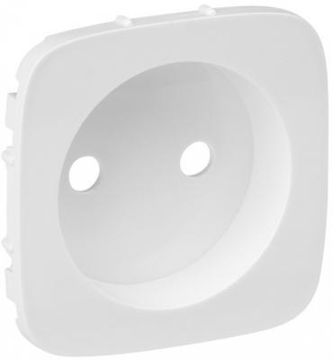 Лицевая панель Legrand Valena Allure силовой розетки 2К белый 754975 розетки и выключатели legrand valena купить дешево