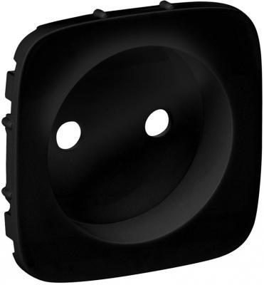 Лицевая панель Legrand Valena Allure силовой розетки 2К антрацит 754978 розетки и выключатели legrand valena купить дешево
