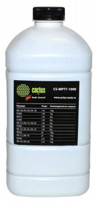Тонер Cactus CS-MPT7-1000 для HP LJ P1005/P1006/P1100/P1102 черный 1000гр тонер cactus cs mpt7 80 черный флакон для принтера hp lj p1005 p1006 p1100 p1102 80гр