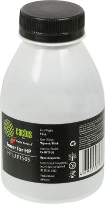 все цены на Тонер Cactus CS-MPT7-95 для HP LJ P1505 черный 95гр онлайн