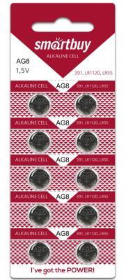 Батарейки Smart Buy AG8-10B LR55 10 шт SBBB-AG8-10B