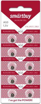 Батарейки Smartbuy AG0-10B LR63 10 шт SBBB-AG0-10B