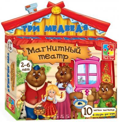 Магнитный театр Vladi toys Три медведя 10 предметов VT3206-10 vladi toys магнитный театр три медведя