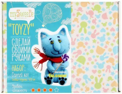 Набор для валяния Toyzy Синий кот от 14 лет TZ-F004