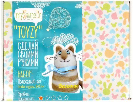Набор для валяния Toyzy Полосатый кот от 14 лет TZ-F018