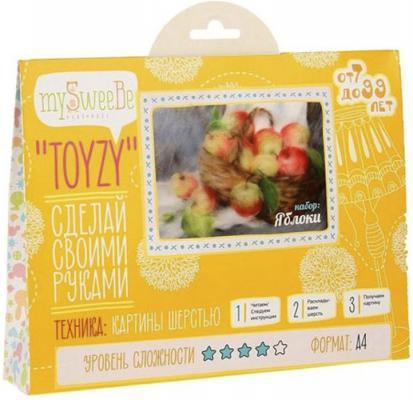 Набор для создания картины шерстью Toyzy Яблоки от 7 лет TZ-P003