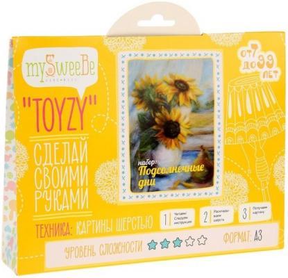 Набор для создания картины шерстью Toyzy Подсолнечные дни от 7 лет TZ-P012