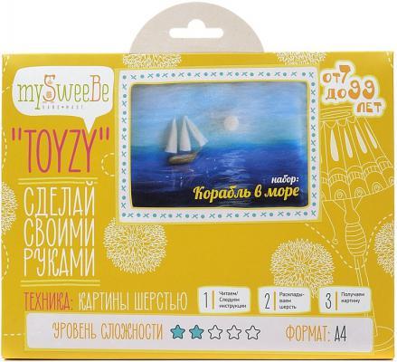 Набор для создания картины шерстью Toyzy Корабль в море от 7 лет TZ-P017