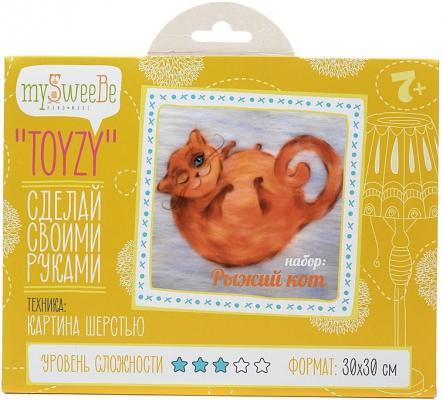 Набор для создания картины шерстью Toyzy Рыжий кот от 7 лет TZ-P031